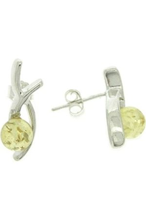 Nova Silver Amber Romance Kiss Lemon Stud Earrings