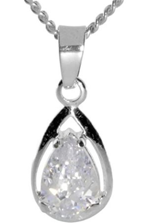 Women Necklaces - Ladies 'Pendant 925/000 Sterling Silver with Cubic Zirconia Curb Chain 42 cm