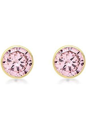 Women Earrings - Carissima Gold 9ct 7mm Round Cubic Zirconia Stud Earrings