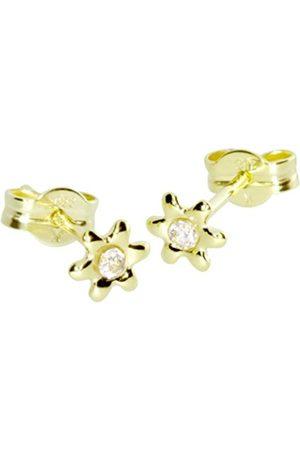 Women Earrings - InCollections 0010160079401 Cubic Zirconia 8ct Yellow Gold Stud Earrings