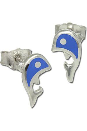 Girls Earrings - Teenie Weenie SDO212B Children's Sterling 925 Earrings