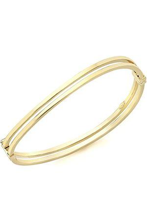 Women Bracelets - Carissima Gold 9ct Gold Double Tube Wave Bangle