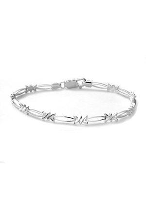 Women Bracelets - Sterling Kiss Link Bracelet of 18.4 cm