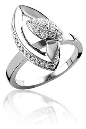 Women Rings - ORPHELIA Women's Ring 925 Sterling Silver Rhodium-Plated Zirconia R-3003