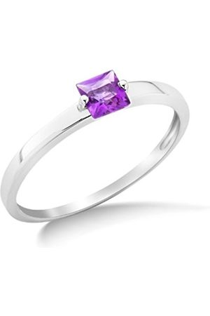 Miore 9ct Amethyst Engagement Ring MG9085R- Size N