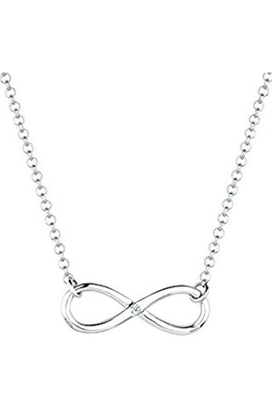 Women Necklaces - DIAMORE Women's Necklace Infinity 925 Sterling Silver Diamond 0.03ct