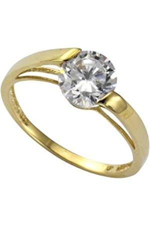 Women Rings - Women's Ring 9-Carat 375 Yellow Gold Cubic Zirconia Size 54 (17.2) 58