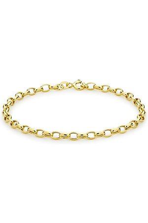 "Women Bracelets - Carissima Gold 9ct Oval Belcher Bracelet of 19cm/7.5"""