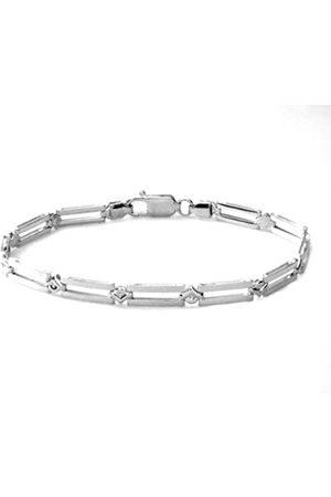 Women Bracelets - Bar Link Sterling Bracelet of 18.4 cm