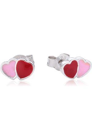 Girls Earrings - Children's Stud Earrings 925 Sterling Silver Rhodium-Plated Enamel 611860