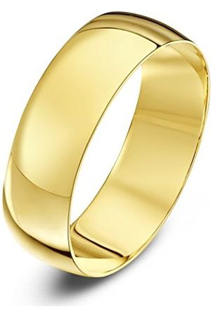 Rings - THEIA Unisex Heavy Weight 6 mm D Shape 9 ct Gold Wedding Ring - Q