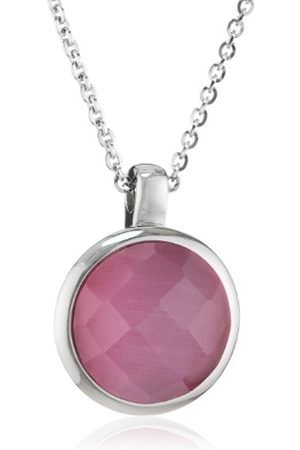 Women Necklaces - S171 Women's Necklace Stainless Steel and Glass 42 cm