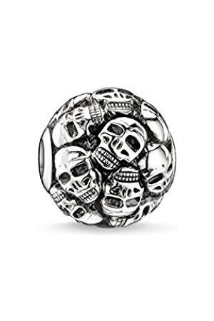 Men Jewellery - Thomas Sabo Women Men-Bead Skulls Karma Beads 925 Sterling blackened K0062-001-12