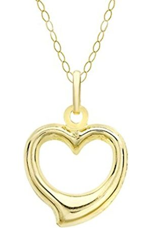 """Women Necklaces - Carissima Gold 9ct Heart Pendant on Chain Necklace of 46cm/18"""""""