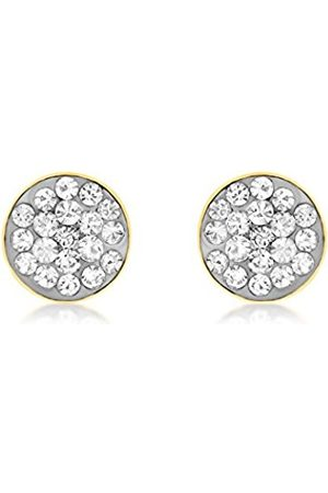 Carissima Gold 9ct Gold Circular Cubic Zirconia Stud Earrings