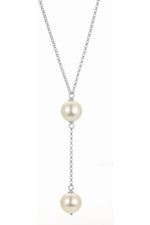 Women Necklaces - Women's Necklace 925 Sterling Rhodium-Plated Mother of Pearl 45 CM Romantica B9