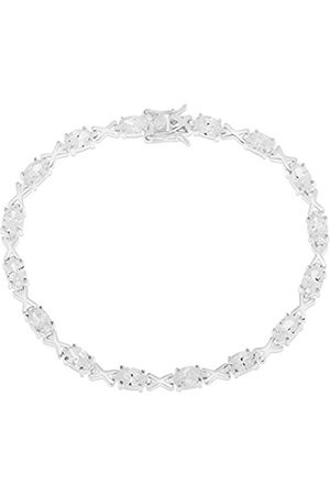 Ornami Sterling CZ Set Tennis Bracelet of 19cm
