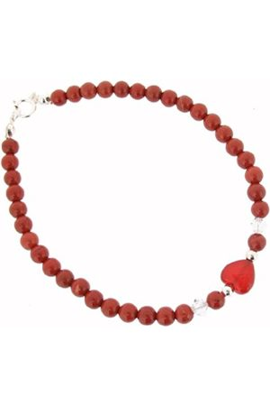 Earth Skinny Heart Bracelet in Jasper of Length 20cm
