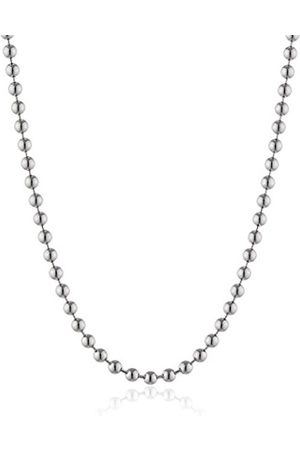 Women Necklaces - Engelsrufer Women's Chain thickness: 2 MM with 925 Rhodium Plated 50 CM-Ernk - 50–2S