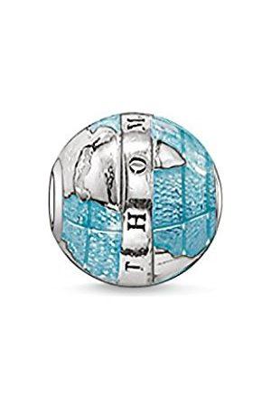 Women Jewellery - Thomas Sabo Women Men-Bead Wonderful world Karma Beads 925 Sterling Silver blackened K0036-007-1