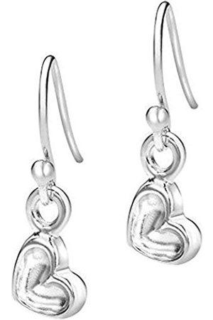 Women Earrings - Memento Sterling Tiny 6mm Dimple Heart Drop Earrings