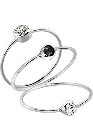 Women Rings - Women's Stacking Ring, Multi-Coloured, Basic 925 Crystal
