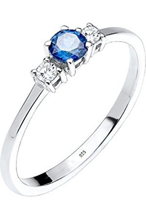 Women Rings - 0608642913 _54 Women's Ring 925 Sterling with Synthetic Sapphire Engagement Ring with Princess Cut Blue Size 52 (16.6) - 0611242514 56 (17.8)