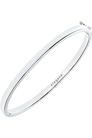 Women Bracelets - Rhodium Plated Sterling Classic Square Tube Bangle of Diameter 65 mm