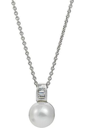 Women Necklaces - Women 9 k (375) Silver Freshwater Cultured Zircon Neckwear