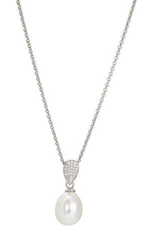 ADRIANA Women 9 k (375) Silver Freshwater Cultured Zircon Neckwear