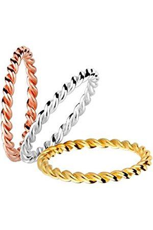 Women Rings - 0603210615 Women's Stacking Rings, 925 Sterling Silver