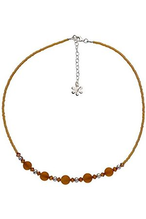 Women Necklaces - Sterling Silver Topaz Bead and Swarovski Necklace