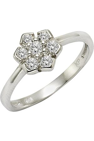CELESTA ZEEme Silver Women's Ring 925 Rhodium-Plated Silver and Zirconia Brilliance 358271251