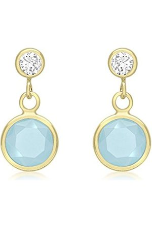 Women Earrings - Carissima Gold 9ct Yellow Gold Cubic Zirconia and Crystal Drop Earrings