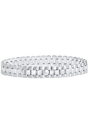 Citerna Women's Sterling Silver Triple Link Rolex Style Bracelet of 18.4 cm