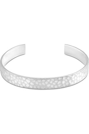 Large Hammered Plated Brass Medium/Large Cuff of 15.8 cm