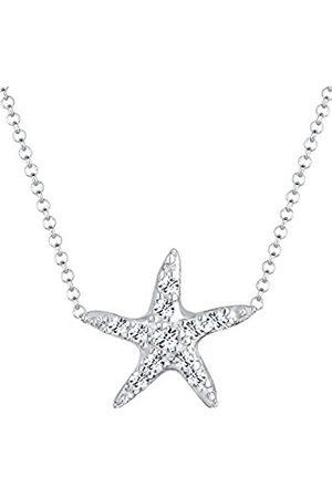 Elli Women's 0103652614_40 Necklace with Pendant Starfish Sterling Swarovski Crystal White Brilliant Cut - 40cm length