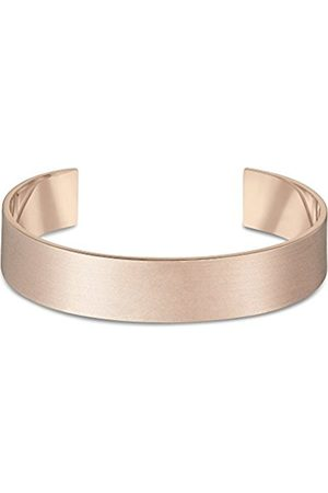 Bracelets - Men's Extra Large Brushed 9 ct Rose Small/Medium Cuff of Length 14.6 cm