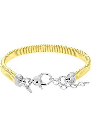 Women Bracelets - Yellow Plated Silver Mesh Cable Bracelet of Length 18.4-20.3 cm
