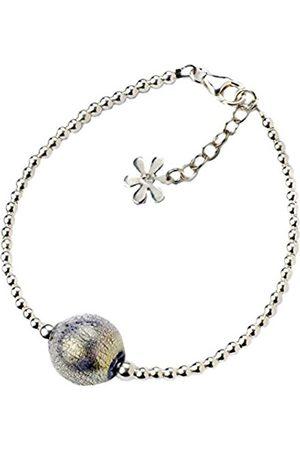 Women Bracelets - And Gold Murano Shimmer Sterling Silver Bracelet of Length 18.0-21.5 cm