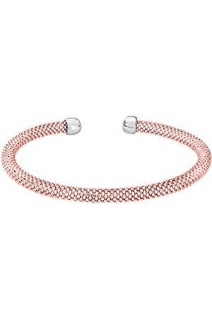 Women Bracelets - Plated Silver Mesh Cuff Bangle