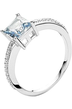 Women Rings - ORPHELIA Women's Ring 925 With Blue Zirconia Cut Size 52 (16.6)/ – 7028/52