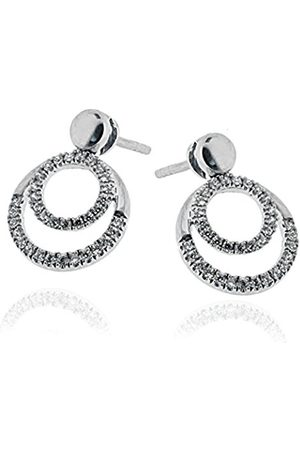 ORPHELIA Women's Earrings 925 Sterling Rhodium-Plated White Zirconia-Solitaire-OD - 5315/Z