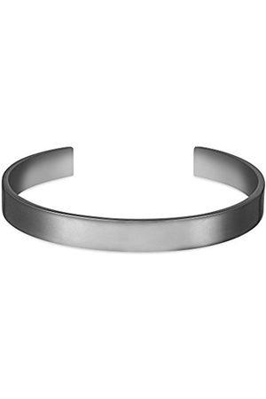 Men Bracelets - Men's Large Plated Brass Medium/Large Cuff of Length 15.8 cm