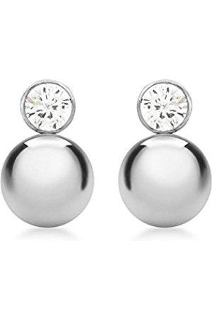 Women Earrings - Carissima Gold 9ct Cubic Zirconia and Ball Drop Stud Earrings
