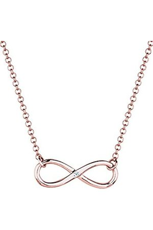 DIAMORE Women's 925 Sterling Silver Xilion Cut Diamond Infinity Pendant Necklace Length of 45 cm