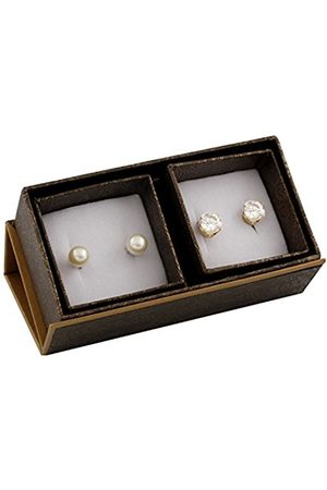 Women Earrings - 7 mm Multi-Coloured Freshwater Pearl Sterling Silver Stud Earrings - Set of 2 Pairs