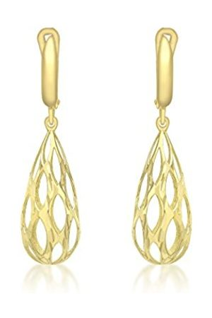Carissima Gold 9ct Gold Cut Out Large Teardrop Earrings