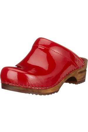 Women Clogs - Sanita Women's Classic Patent Casual Mule & Clog ,5 UK