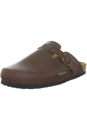 Men Clogs - Mens 600141 Clogs Braun (braun) Size: 40 EU (6.5 Herren UK)